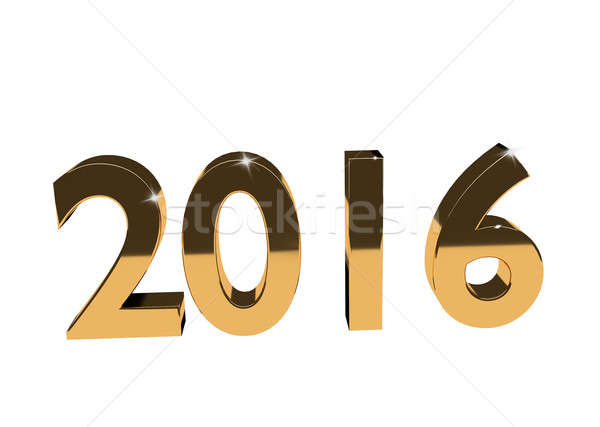 Golden Year 2016 Stock photo © andreasberheide
