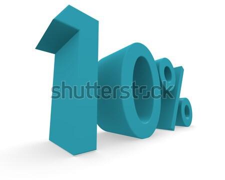 Ten percent 3d rendering Stock photo © andreasberheide