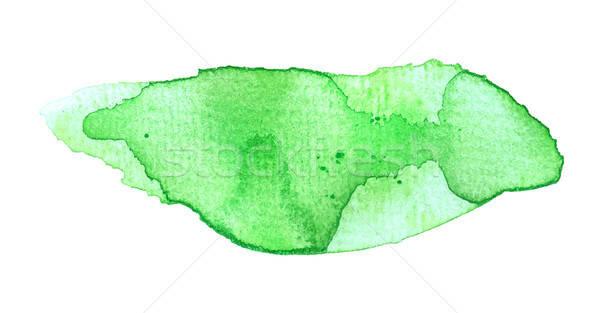Green watercolor blob Stock photo © andreasberheide