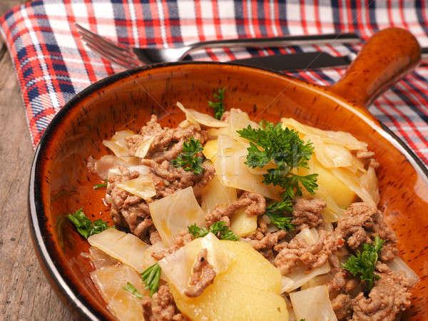 Stockfoto: Witte · kool · rundvlees · keramische