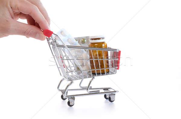 Shopping cart with pills Stock photo © andreasberheide