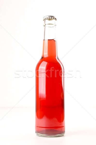 Holunder Saft Flasche weiß Obst Glas Stock foto © andreasberheide