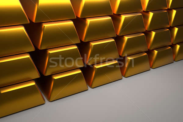 Close up of stacked gold bars Stock photo © andreasberheide