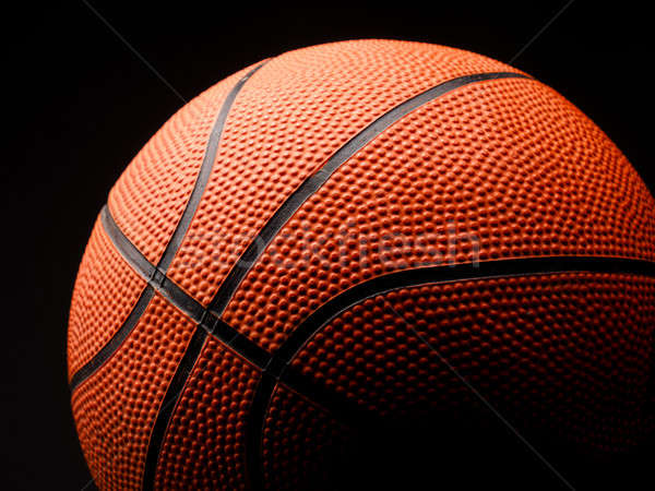 Basketball on dark background Stock photo © andreasberheide
