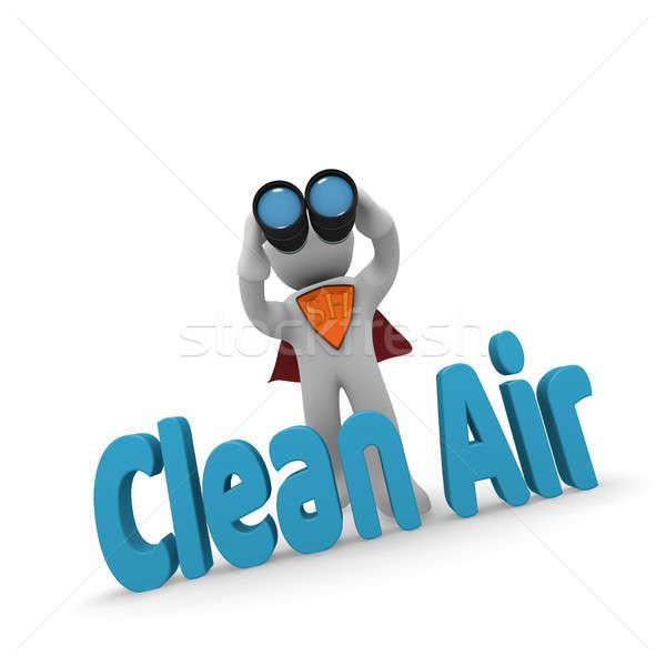 3D tiszta levegő keresés szuperhős látcső Stock fotó © andreasberheide