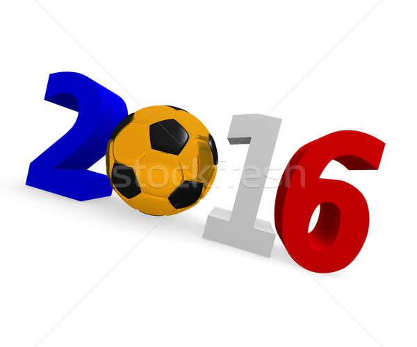 Футбол 2016 футбольным мячом белый спорт Сток-фото © andreasberheide