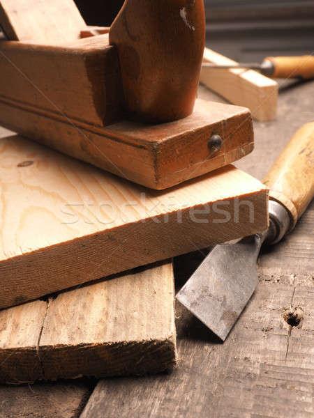 плотник инструменты деревянный стол древесины работник старые Сток-фото © andreasberheide