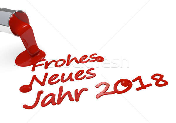 German Happy New Year 3d concept Stock photo © andreasberheide