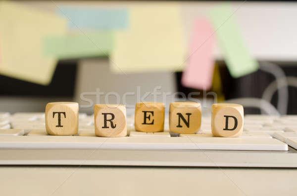 Tendencja obraz działalności klawiatury moda pracy Zdjęcia stock © andreasberheide
