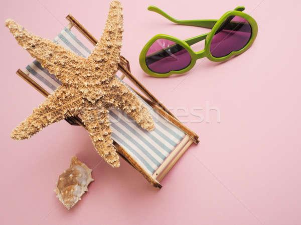Estrellas de mar tumbona viaje imagen fondo verano Foto stock © andreasberheide