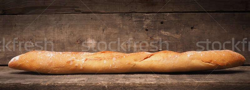 Baguette brood hout heerlijk rustiek houten Stockfoto © andreasberheide