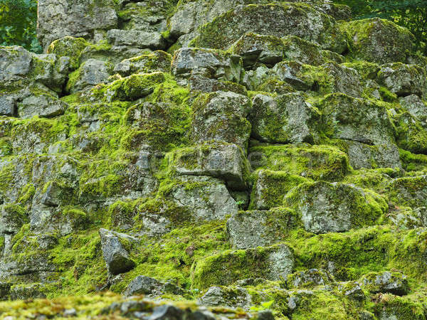 Natural background of rocks with moss Stock photo © andreasberheide