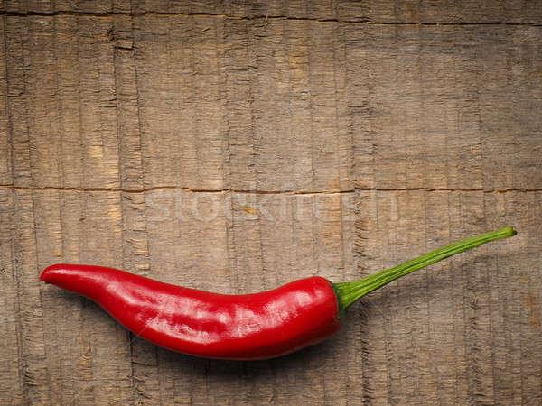 Piros forró pepperoni közelkép fűszeres hozzávalók Stock fotó © andreasberheide