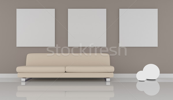 Mock up poster with modern interior Stock photo © andreasberheide