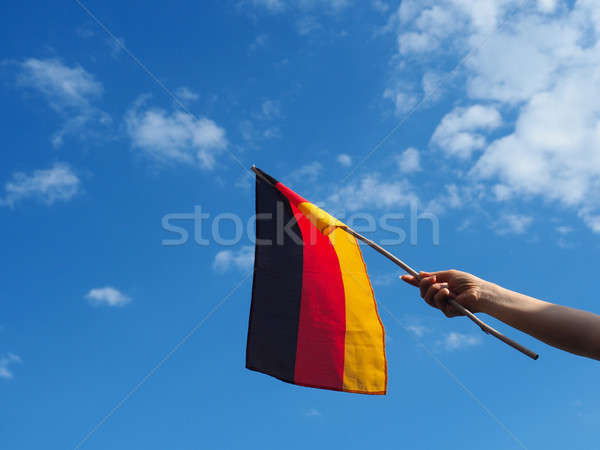 Female hand with the German flag Stock photo © andreasberheide