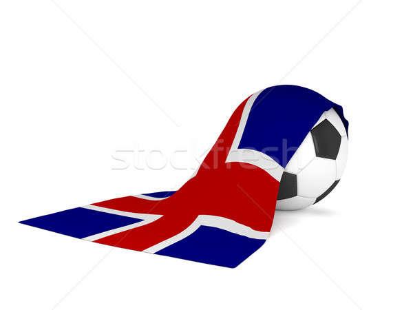 Soccer ball bandiera Islanda calcio campionato 3D Foto d'archivio © andreasberheide