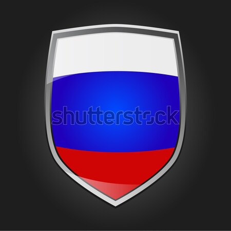 Pajzs zászló Oroszország terv üveg fém Stock fotó © andreasberheide