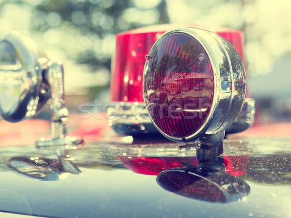 Klasszikus tűzoltóság autó közelkép retro szín Stock fotó © andreasberheide