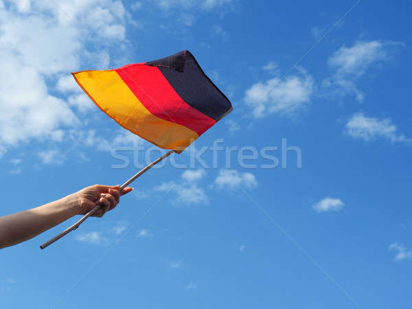 Woman with German flag Stock photo © andreasberheide