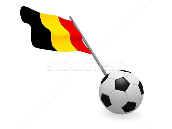 Voetbal vlag België voetbal kampioenschap 3D Stockfoto © andreasberheide