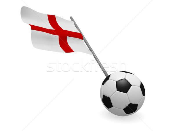 Soccer ball bandiera Inghilterra calcio campionato 3D Foto d'archivio © andreasberheide