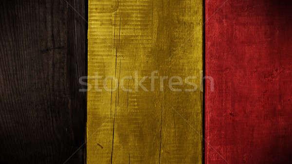 Belgian flag on wood Stock photo © andreasberheide