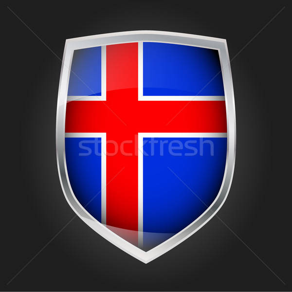 Shield with flag of Iceland Stock photo © andreasberheide