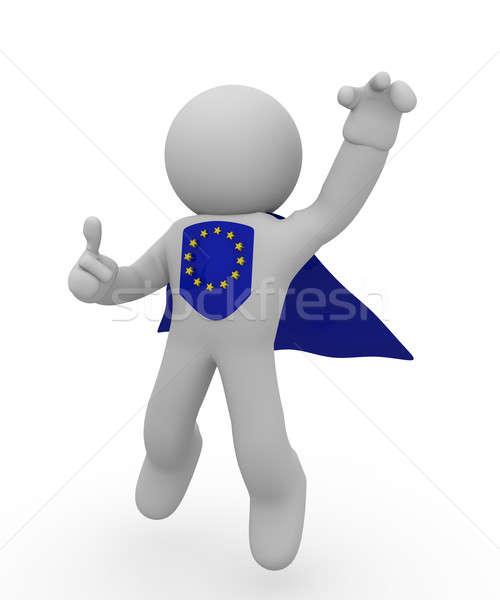 Wspaniały europejski bohater pływające wysoki kciuk Zdjęcia stock © andreasberheide
