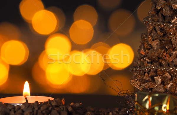 Romantic Christmas background Stock photo © andreasberheide
