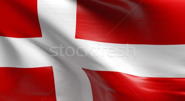 Vlag Denemarken 3D ontwerp achtergrond Stockfoto © andreasberheide