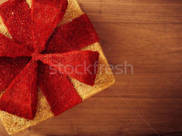 Noel hediye kutusu büyük doku Stok fotoğraf © andreasberheide