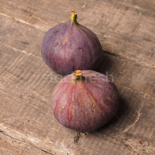 Fresh organic figs on rustic wood Stock photo © andreasberheide