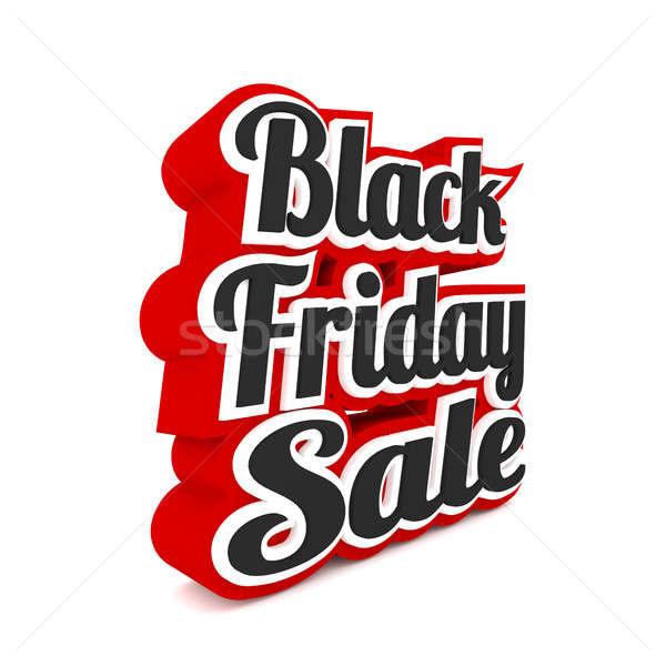 черная пятница продажи белый 3D бизнеса Сток-фото © andreasberheide