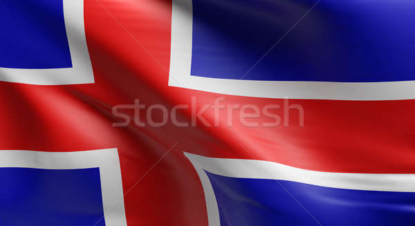 Flag of Iceland Stock photo © andreasberheide