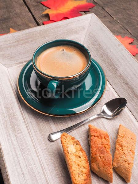 İtalyan espresso fincan ahşap plaka doğa Stok fotoğraf © andreasberheide