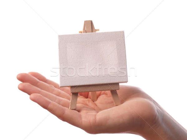 Blank canvas Stock photo © andreasberheide