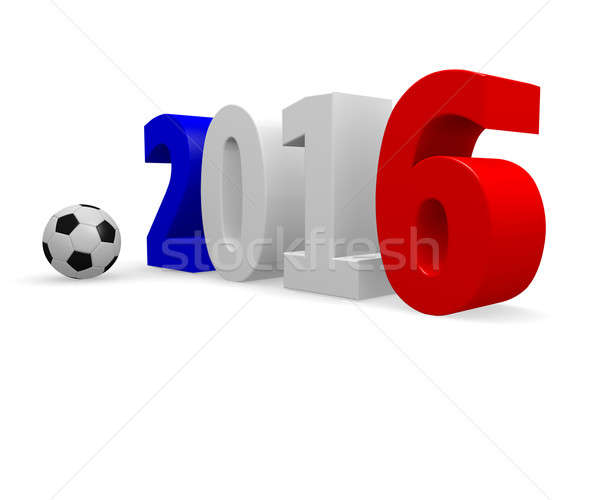 Футбол конкуренция Франция 2016 футбольным мячом белый Сток-фото © andreasberheide