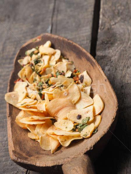Edad cuchara de madera cocina ingredientes italiano rústico Foto stock © andreasberheide