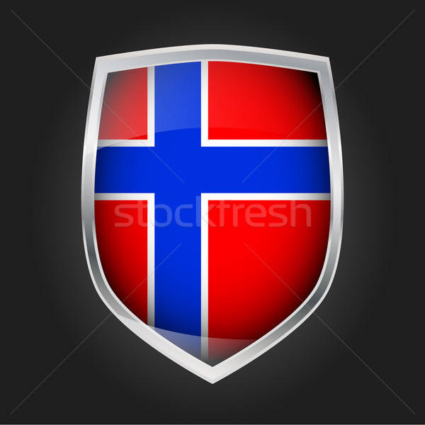 Shield with flag of Norway Stock photo © andreasberheide