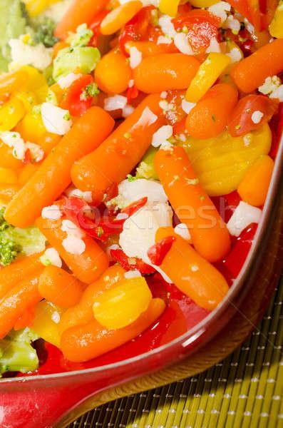 Gustoso verdura rosso piatto cibo sano Foto d'archivio © andreasberheide