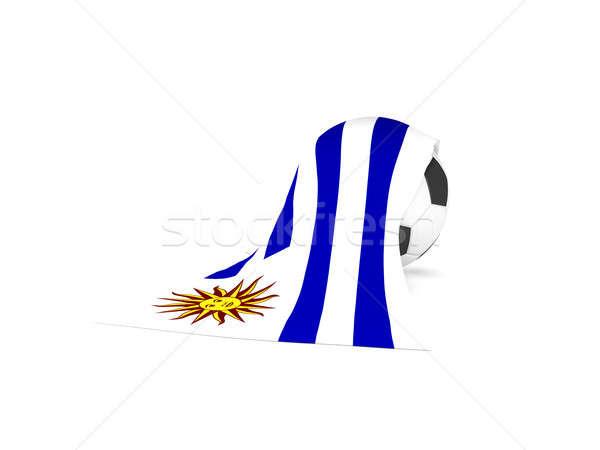 サッカーボール フラグ ウルグアイ サッカー 選手権 3D ストックフォト © andreasberheide