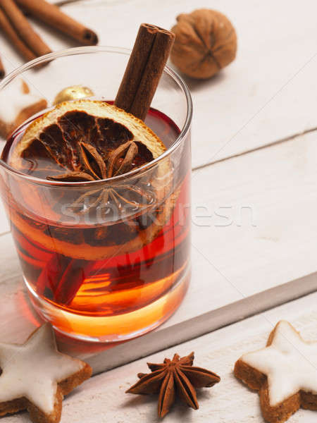 Glass of mulled wine Stock photo © andreasberheide
