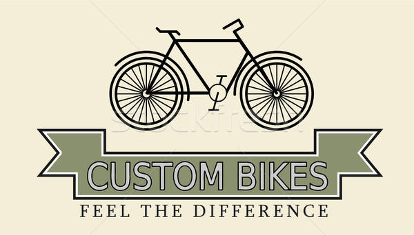 Custom bikes, vintage styled company template Stock photo © andreasberheide