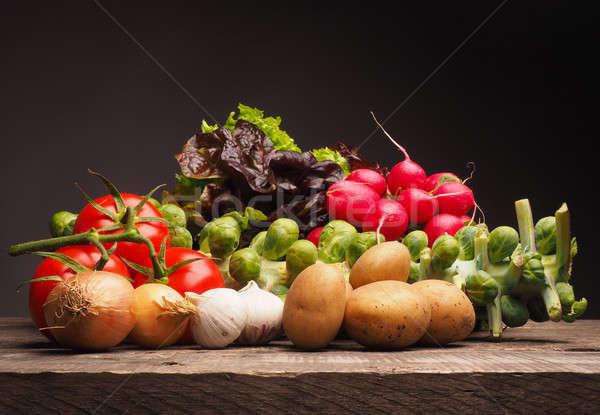 Fresh organic vegetables, healthy food Stock photo © andreasberheide