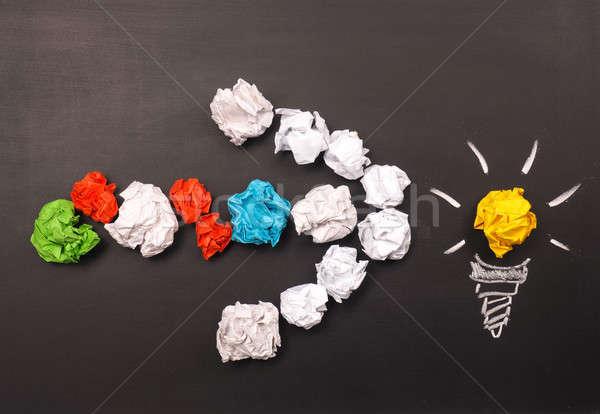 Teamwork concept with many ideas Stock photo © andreasberheide