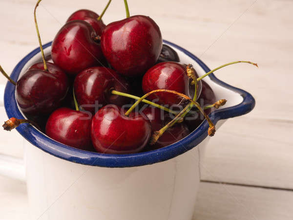 Sweet organic cherries Stock photo © andreasberheide