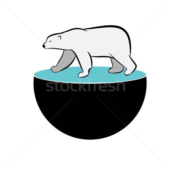 Oso polar esfera ecología global negocios resumen Foto stock © andreasberheide