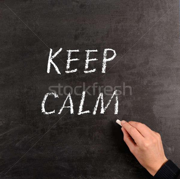 Keep calm Stock photo © andreasberheide