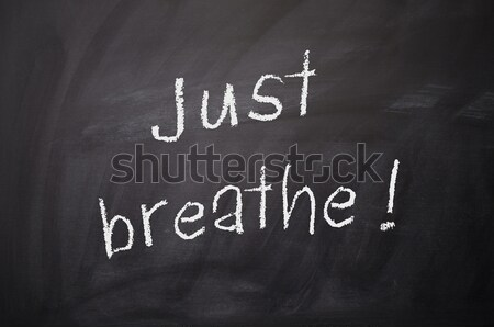 Just breathe ! Stock photo © andreasberheide