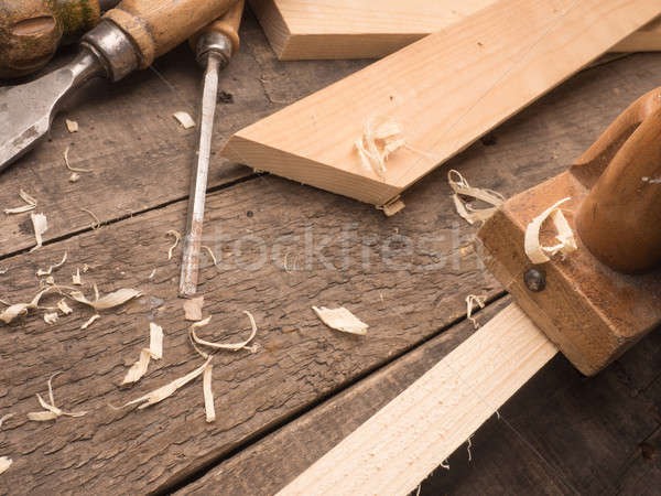 Carpenter tools on a workbench Stock photo © andreasberheide